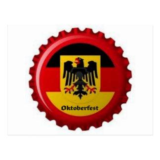 OKTOBERFEST GERMAN BOTTLECAP DESIGN POST CARDS