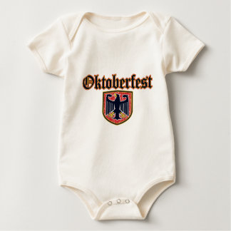 OKTOBERFEST German Fest Shield Baby Bodysuit