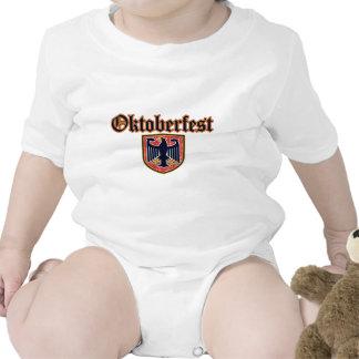 OKTOBERFEST German Fest Shield Rompers