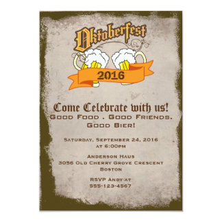 Oktoberfest German Festival Beer Steins Party Card