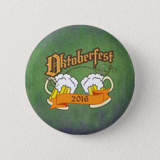 Oktoberfest German Festival Beer Steins Typography Button