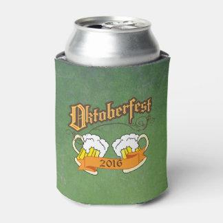 Oktoberfest German Festival Beer Steins Typography Can Cooler