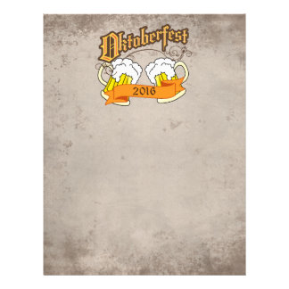 Oktoberfest German Festival Beer Steins Typography Letterhead