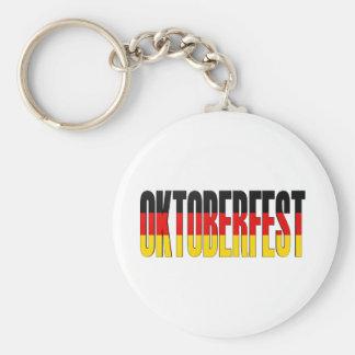 Oktoberfest German Flag Basic Round Button Keychain
