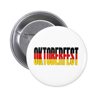 Oktoberfest German Flag Pinback Button