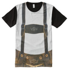 Oktoberfest German Lederhosen All-over-print Shirt at Zazzle