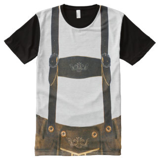 Oktoberfest German Lederhosen All-Over-Print Shirt