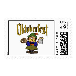 Oktoberfest German Man Postage Stamp
