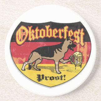 Oktoberfest German Shepherd Coaster
