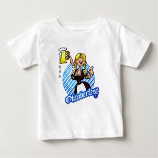 Oktoberfest - girl in a dirndl baby T-Shirt
