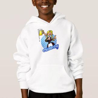 Oktoberfest - girl in a dirndl hoodie