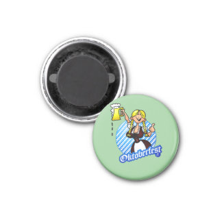 Oktoberfest - girl in a dirndl magnets