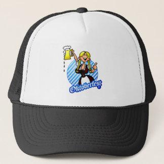 Oktoberfest - girl in a dirndl trucker hat