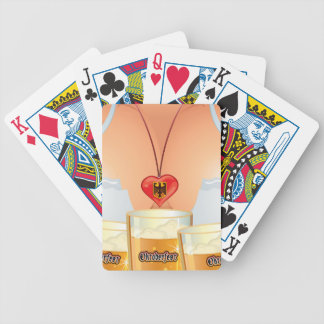 Oktoberfest Girl Playing Cards