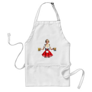 Oktoberfest Girl with Beer Steins Adult Apron