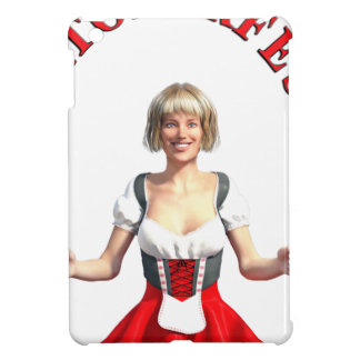 Oktoberfest Girl with Beer steins and Title iPad Mini Cases