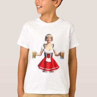 Oktoberfest Girl with Beer Steins T-Shirt