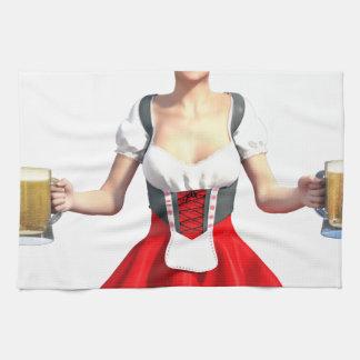 Oktoberfest Girl with Beer Steins Towel