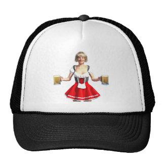 Oktoberfest Girl with Beer Steins Trucker Hat
