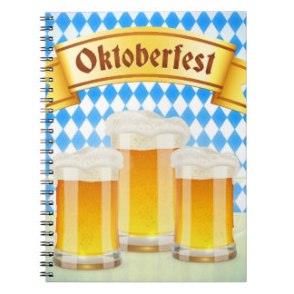 Oktoberfest Greeting Card With Beer Notebook