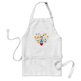 Oktoberfest heart adult apron
