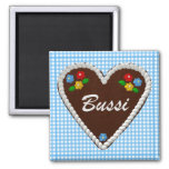"Oktoberfest Heart ""Bussi"" 2 Inch Square Magnet"