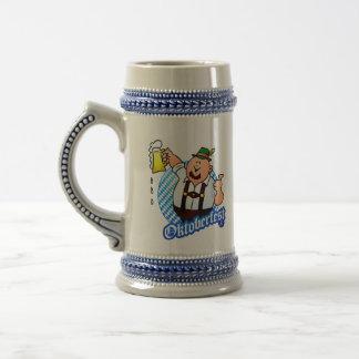 Oktoberfest - hombre en lederhosen jarra de cerveza