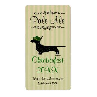 Oktoberfest Home brewed beer Labels