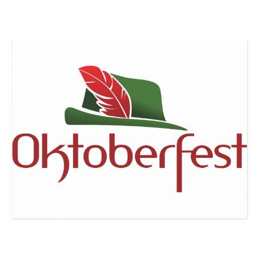 Oktoberfest Hut Postcard