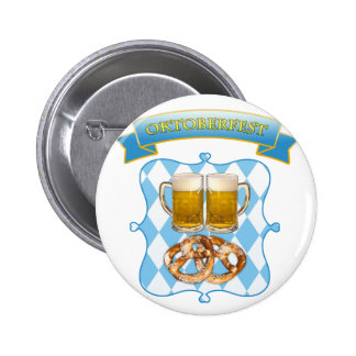 Oktoberfest in Munich, beer &pretzels Button