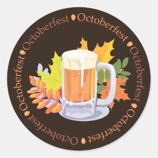 Oktoberfest in the Round Classic Round Sticker