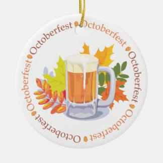 Oktoberfest in the Round Ornament