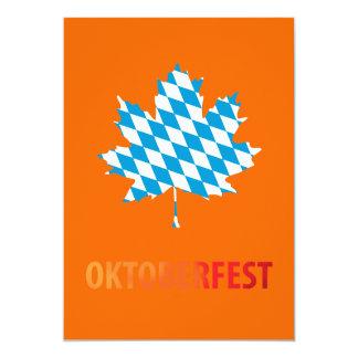 "Oktoberfest Invitación 5"" X 7"""