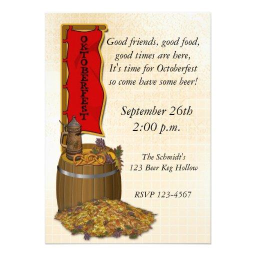 Oktoberfest Custom Invitations