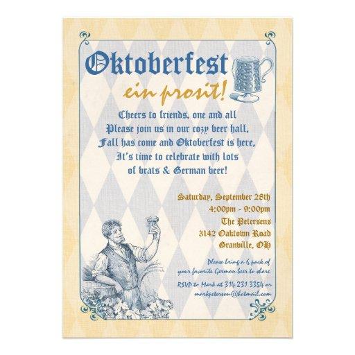 Oktoberfest Invitation (front side)