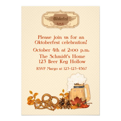 Oktoberfest Personalized Invitation
