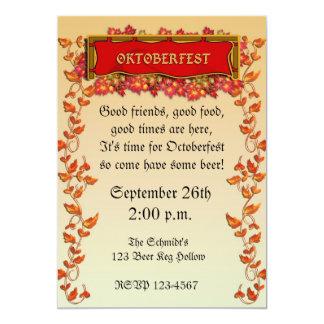 """Oktoberfest Invitation 5"""" X 7"""" Invitation Card"""