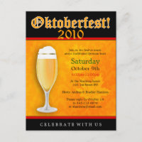 Oktoberfest Invitation Postcard