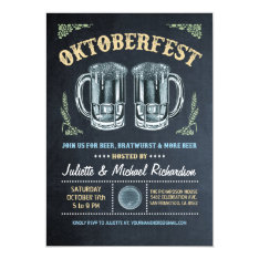 Oktoberfest Invitations | Chalkboard at Zazzle
