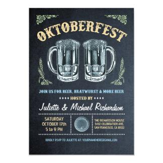 Oktoberfest Invitations | Chalkboard