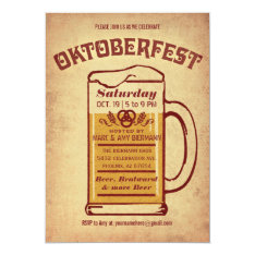 Oktoberfest Invitations - Rustic V.1 at Zazzle
