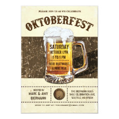 Oktoberfest Invitations - Vintage Rustic V.2 at Zazzle