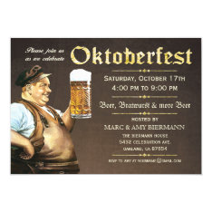 Oktoberfest Invitations (vintage) V.1 at Zazzle