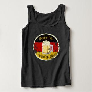 Oktoberfest Kiss Me Grungy Tank Top
