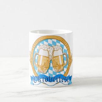 Oktoberfest Label Design With Beer Glasses Coffee Mug