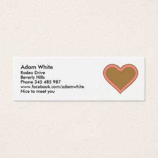 Oktoberfest lebkuchen heart mini business card