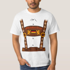 Oktoberfest Lederhosen T-shirt at Zazzle
