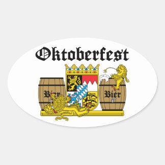Oktoberfest - Leones borrachos Calcomanías Ovaladas Personalizadas