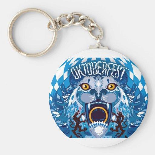 Oktoberfest Lion Key Chain