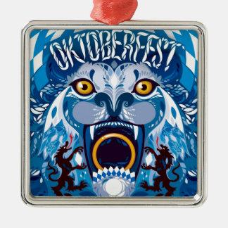 Oktoberfest Lion Metal Ornament